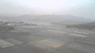 スカイジムサノでのマスターコース講習初日のフライト 空撮