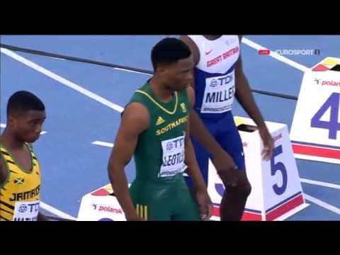 105 Tlotliso Leotlela 10 20 Men's 100m Semifinal 2 HD World U20 Championships Bydgoszcz 2016