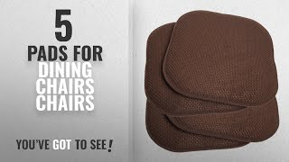 "Top 10 Chairs Pads For Dining Chairs [2018]: 4 Pack Memory Foam Honeycomb Nonslip Back 16"" x16"""