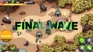 Alien Creeps TD Level 1 2 3 4 Missions vs Predators Game Play