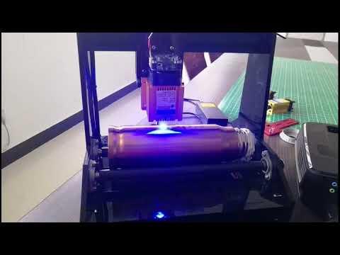 DIY 15w laser engraving machine engraving/Carved  on cylinder on metal  Cronosmaker