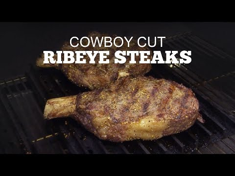 How to grill a Cowboy Cut Ribeye Steak | Green Mountain Pellet Grills | Loot N' Booty & Chef John