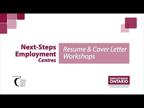 Next-Steps Employment Centres - Resume Workshops