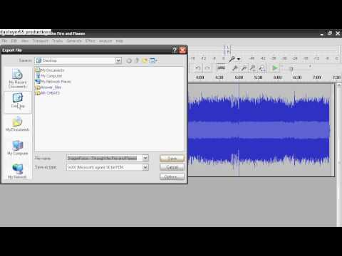 How to save Audacity as  wav
