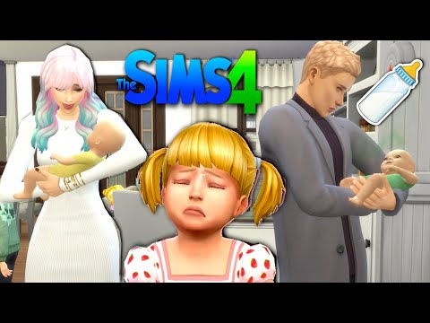Titi has Twins in Sims 4 - Baby Goldie is Jealous of the Babies! |