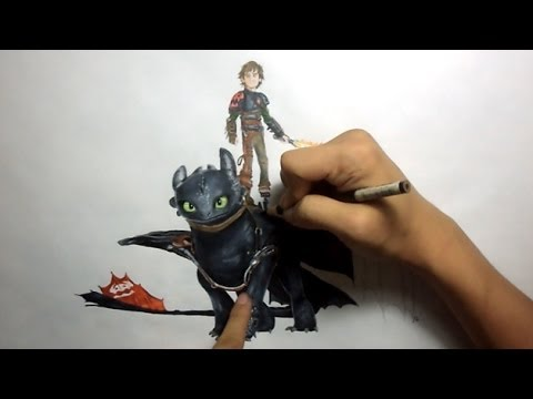 Drawing hiccup and toothless how to train your dragon 2 youtube ccuart Images