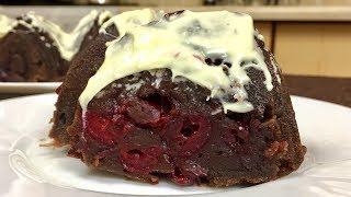 видео Вишневый пирог с медом и шоколадом