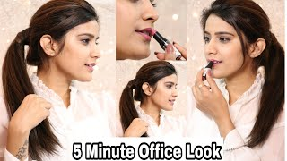 5 Minute Office Makeup + Hairstyle You must Try | *WINTER* Step By Step Office Makeup | Super Tips