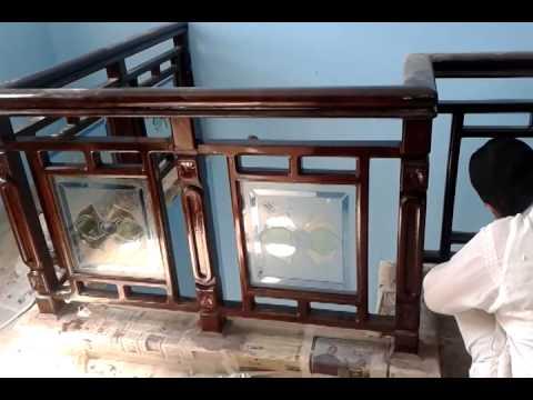 Wood Stairs Design Youtube | Teak Wood Staircase Railings | Wood Frame | Hand | Sitout | Wood Carving | Lakdi
