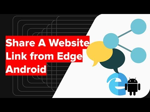 How to Share Website Page Link on Edge Android?