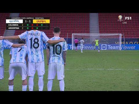 Argentina vs Colombia - Penalty kick 3-2 (Semi-final 2021)