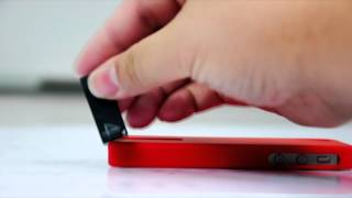 Matte Smooth Hard Case Cover with 4GB USB Flash Drive For iPhone 4S / iPhone 4 - 2 Colors