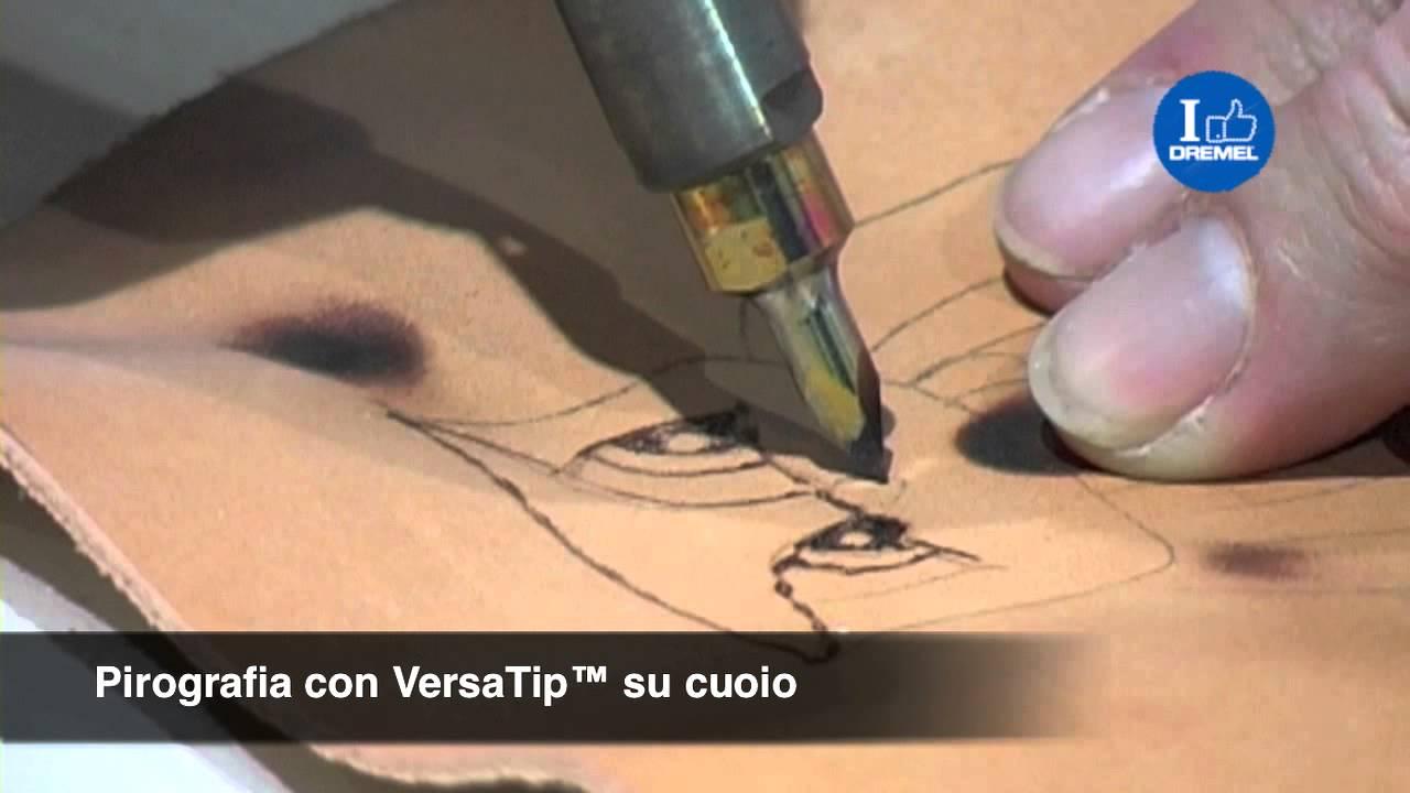 Pirografia con VersaTip su legno e cuoio  YouTube