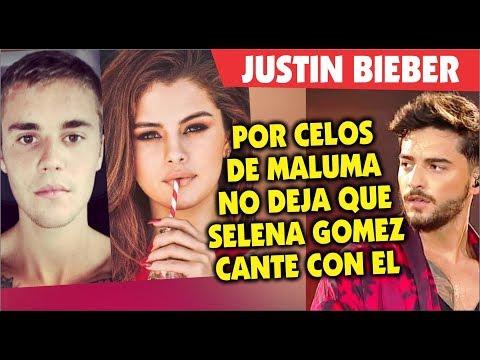 Justin Bieber celoso de Maluma por Selena Gomez