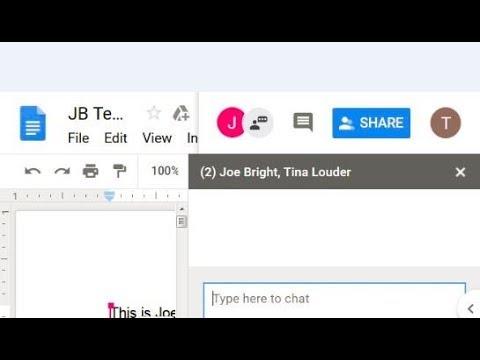 Google Docs Collaboration 1.5 Chat