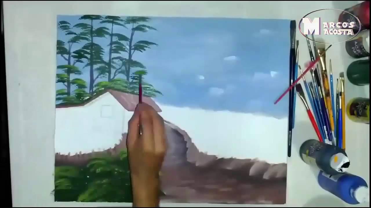 Como Pintar Un Cuadro En Acrilico Facil Y Sencillo