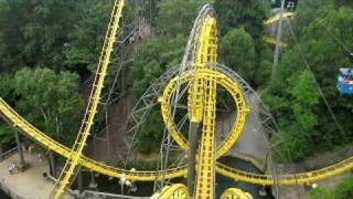 Loch Ness Monster Front Seat on-ride widescreen POV Busch Gardens Williamsburg