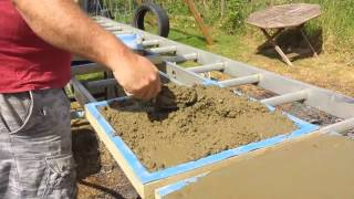 Making Patio Slabs