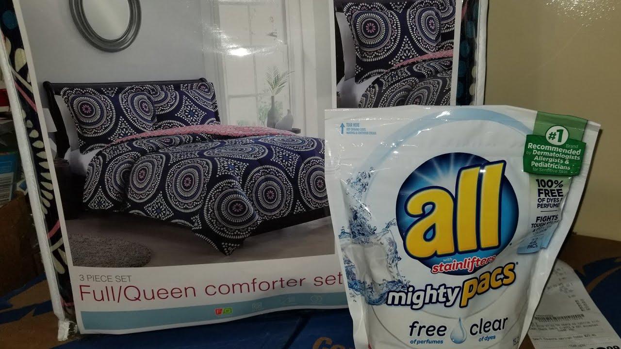 Family Dollar $5 comforter & free all packs 1/27/19
