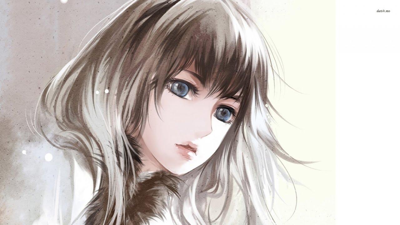 Аниме девочки с русыми волосами каре косая челка