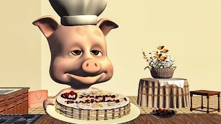 🎂 Funny Happy Birthday Song. Piggy singing Happy Birthday To You