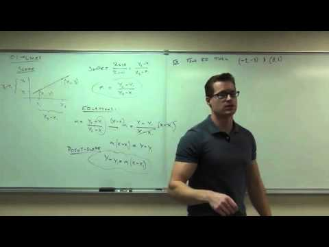 Calc 1 Lecture1 Lines, Angle of Inclination, Distance Formula