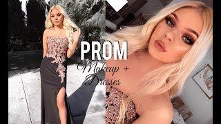 PROM Makeup Tutorial & Dress Ideas!! | Tina Halada