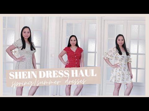 SHEIN Dresses Try On Haul 2021 | Affordable Spring/Summer Dresses | Meu \u0026 Mea