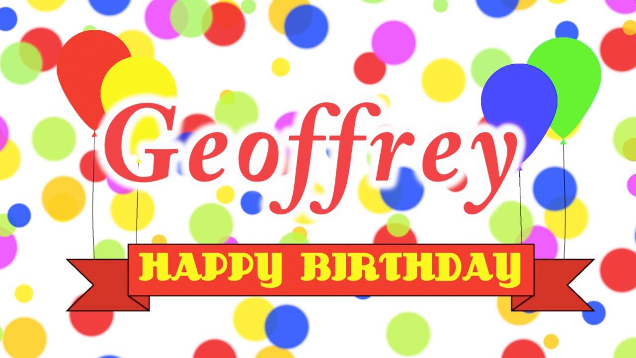 Happy Birthday Geoffrey Song
