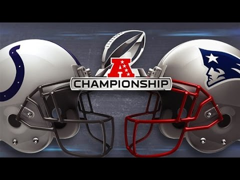 Madden NFL 15 - AFC Championship 2015 - Colts Vs Patriots (HD)
