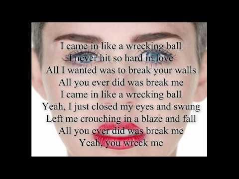 Miley Cyrus-Wrecking Ball Lyrics