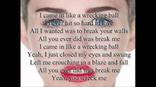 miley cyrus wrecking ball lyrics
