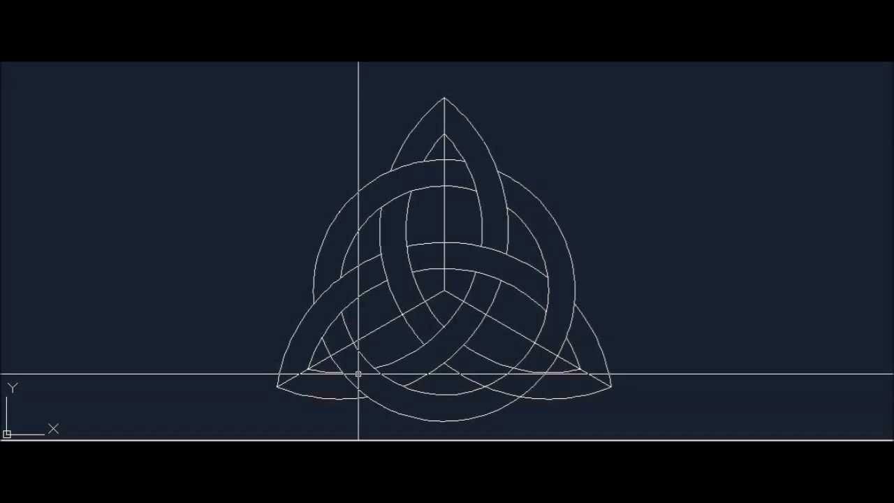 How To Draw Celtic Knot Triquetra Trinity Symbol Step By Step