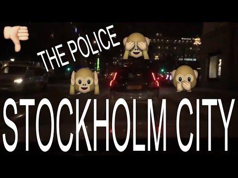 STOCKHOLM NIGHTLIFE CAR DRIVING THRU CITY STRANDVÄGEN I NYBROPLAN I HAMNGATAN I NORRMALSTORG I STAN