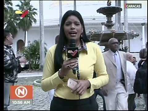 Diputados de Guaidó entran al Palacio Federal Legislativo mientras periodista VTV transmite en vivo