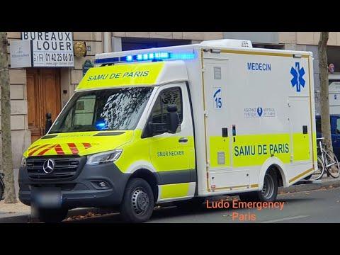 France Ambulances du Samu en urgence  Emergency doctor cars and Ambulances Responding best of
