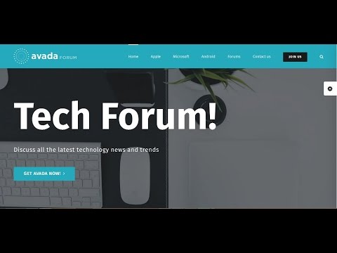 Forum-Avada theme Video Preview- WordPress business blog, ecommerce and multipurpose theme