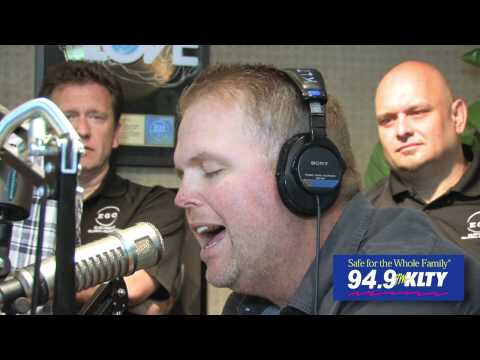 MercyMe singing The Hurt And The Healer in the 949 KLTY Studios