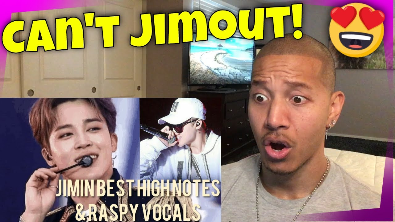 BTS JIMIN BEST LIVE HIGH NOTES & RASPY VOCALS COMPILATION (UPDATED) REACTION