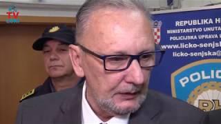 Ministar Božinović izjava za medije Gospić 06.11.2017.