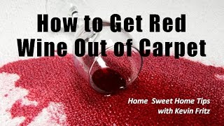 How to Get Red Wine Out of Carpeting - A Product Review