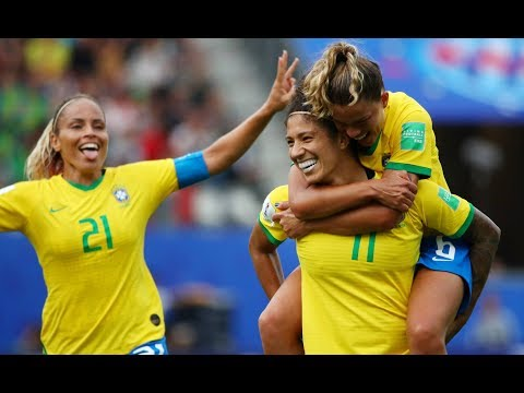 Brasil 3 x 0 Jamaica Melhores Momentos HD - Copa do Mundo Feminina da França 09/06/2019