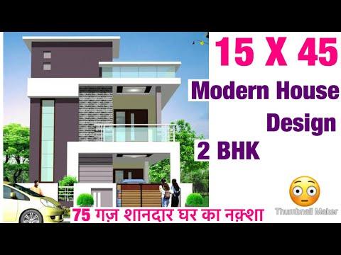 15-x-45-,-house-design-,-plan-map-,-2bhk-,-3d-videos-,-vastu-shastra-anusar-,-car-parking-lawn-vastu