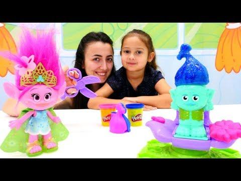 Play Doh Poppy kuaför salonu. Troller oyuncakları