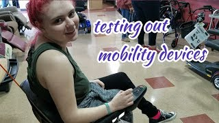 trying out a mobility scooters🛵♿