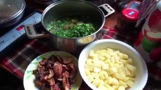 Чесночный суп с бараниной 14.06.2015.