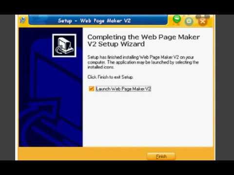 วิธีการติดตั้งโปรเเกรม Web Page Maker.avi