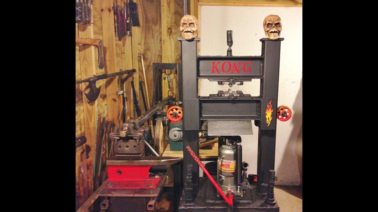 homemade hydraulic forging press