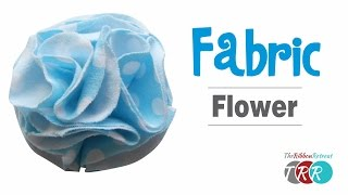 How to Make a Fabric Flower - TheRibbonRetreat.com