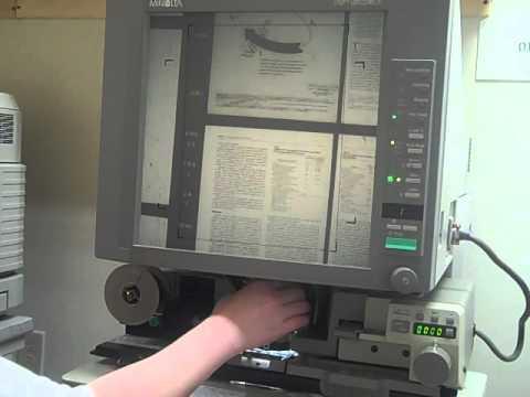 Microfilm Printing Instruction